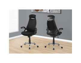 MONARCH Office Chair - BLACK MESH / CHROME HIGH-BACK EXECUTIVE