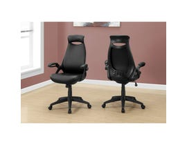 MONARCH Office Chair - BLACK LEATHER-LOOK / MULTI POSITION