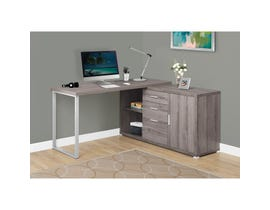 "MONARCH Computer Desk - 60""L / DARK TAUPE LEFT OR RIGHT FACING"