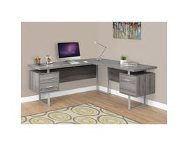 "MONARCH Computer Desk - 70""L / DARK TAUPE LEFT OR RIGHT FACING"