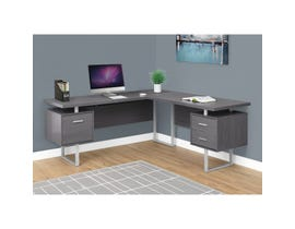 "MONARCH Computer Desk - 70""L / GREY LEFT OR RIGHT FACING"