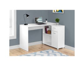 "MONARCH Computer Desk - 46""L / WHITE WITH A STORAGE CABINET"