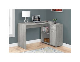 "MONARCH Computer Desk - 46""L / GREY WITH A STORAGE CABINET"