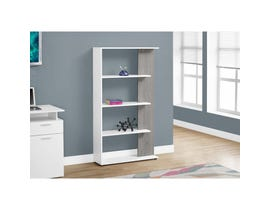 "MONARCH bookcase - 56""H / WHITE / GREY I7355"