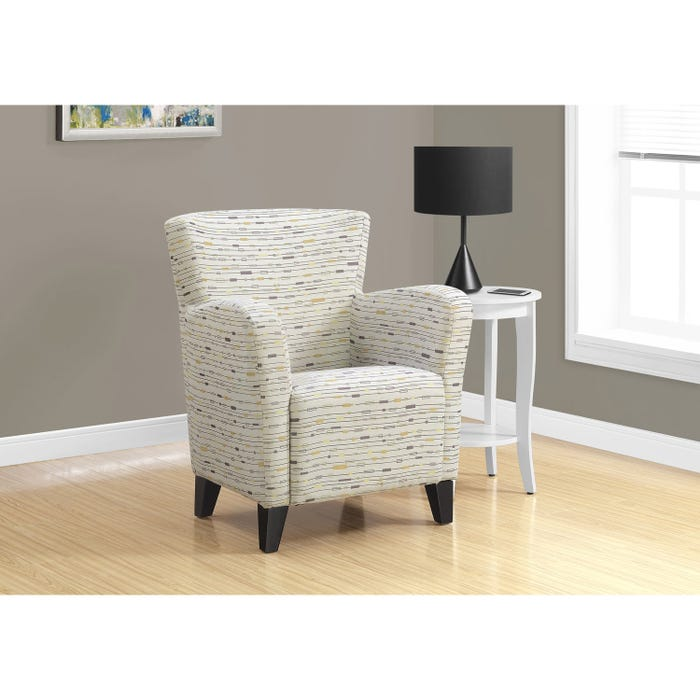 Monarch Accent Chair - EARTH TONE GRAPHIC PATTERN FABRIC