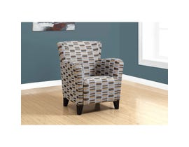 Monarch Accent Chair - EARTH TONE GEOMETRIC FABRIC