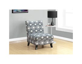 Monarch Accent Chair - GREY GEOMETRIC FABRIC