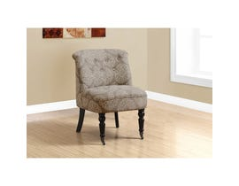 Monarch Accent Chair - TRADITIONAL STYLE TAUPE SNOWFLAKE FABRIC