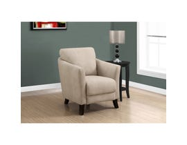 Monarch Accent Chair - LIGHT TAUPE MICROFIBER FABRIC