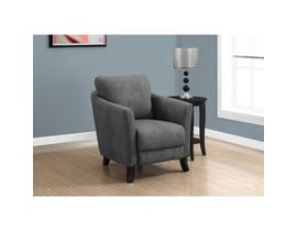 Monarch Accent Chair - GREY MICROFIBER FABRIC