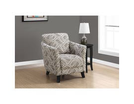 Monarch Accent Chair - TAUPE LEAF DESIGN FABRIC