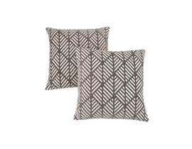 "Monarch Pillow  - 18""X 18"" / DARK TAUPE GEOMETRIC DESIGN / 2PCS"