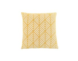 "Monarch Pillow  - 18""X 18"" / YELLOW GEOMETRIC DESIGN / 1PC"
