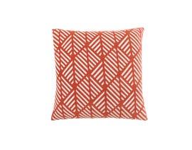 "Monarch Pillow  - 18""X 18"" / ORANGE GEOMETRIC DESIGN / 1PC"