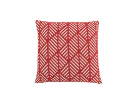 "Monarch Pillow  - 18""X 18"" / RED GEOMETRIC DESIGN / 1PC"