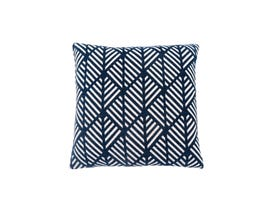 "Monarch Pillow  - 18""X 18"" / DARK BLUE GEOMETRIC DESIGN / 1PC"