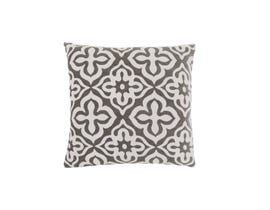 "Monarch Pillow  - 18""X 18"" / DARK TAUPE MOTIF DESIGN / 1PC"