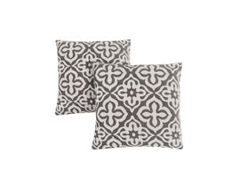 "Monarch Pillow  - 18""X 18"" / DARK TAUPE MOTIF DESIGN / 2PCS"
