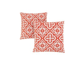 "Monarch Pillow  - 18""X 18"" / ORANGE MOTIF DESIGN / 2PCS"