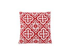 "Monarch Pillow  - 18""X 18"" / RED MOTIF DESIGN / 1PC"