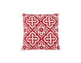 "Monarch Pillow  - 18""X 18"" / RED MOTIF DESIGN / 1PC"