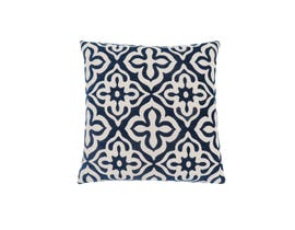 "Monarch Pillow  - 18""X 18"" / DARK BLUE MOTIF DESIGN / 1PC"