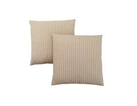 "Monarch Pillow  - 18""X 18"" / LIGHT / DARK TAUPE ABSTRACT DOT/ 2PCS"