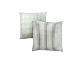 "Monarch Pillow  - 18""X 18"" / LIGHT BLUE / GREY ABSTRACT DOT / 2PCS"