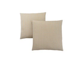 "Monarch Pillow  - 18""X 18"" / GOLD / GREY ABSTRACT DOT / 2PCS"