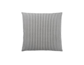 "Monarch Pillow  - 18""X 18"" / LIGHT GREY / BLACK ABSTRACT DOT / 1PC"
