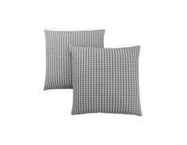 "Monarch Pillow  - 18""X 18"" / LIGHT GREY / BLACK ABSTRACT DOT/ 2PCS"