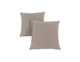 """Monarch Pillow  - 18""""X 18"""" / LIGHT / DARK BROWN ABSTRACT DOT/ 2PCS"""