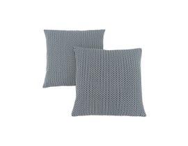 """Monarch Pillow  - 18""""X 18"""" / LIGHT / DARK BLUE ABSTRACT DOT / 2PCS"""