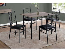 Monarch Specialties 5pc Metal Dining Set in Dark Taupe 1022