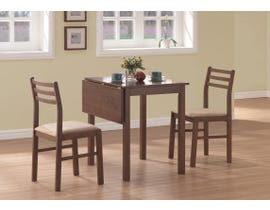 Monarch DINING SET - 3PCS SET / WALNUT SOLID-TOP DROP LEAF I1079