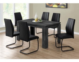 Monarch Rectangular Dining Table with Reclaimed Wood-look in Black I1089