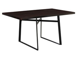 """Monarch 36""""X 60 Dining Table with Black Metal in Cappuccino I1105"""
