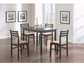 Monarch 5pc Dining Set in Cappuccino I1111