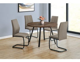 Monarch Round Dining Table with Reclaimed Wood in Brown I1150