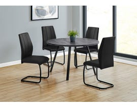 Monarch Round Dining Table with Reclaimed Wood in Black I1153