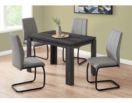 Monarch Rectangular Dining Table with Reclaimed Wood-look in Black I1166