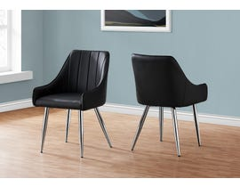 Monarch Leather Look Dining Chair (Set of 2) in Black I1185