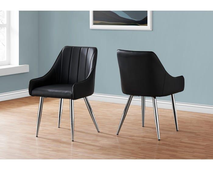 Dining Chair Monarch I1185 Black Lastman S Bad Boy