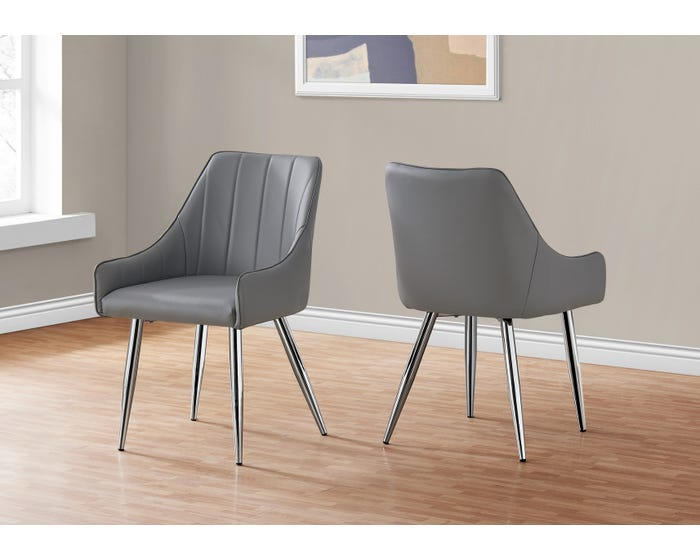 Dining Chair Monarch I1186 Grey Lastman S Bad Boy