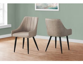 Monarch Fabric Dining Chair (Set of 2) in Taupe I1188