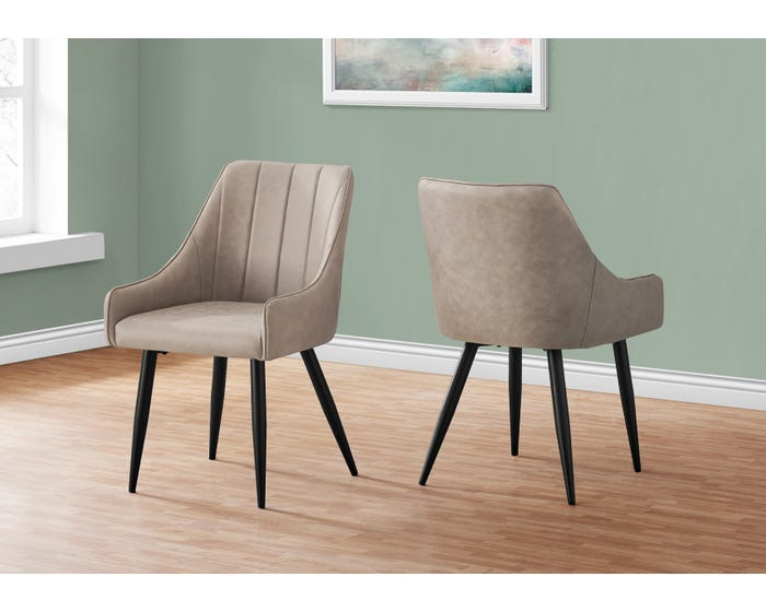 Dining Chair Monarch I1188 Taupe Lastman S Bad Boy
