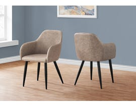 Monarch Fabric Dining Chair (Set of 2) in Taupe I1194