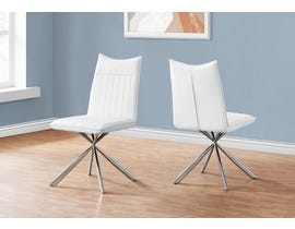 Monarch Leather Look Dining Chair (Set of 2) in White I1212