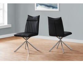 Monarch Leather Look Dining Chair (Set of 2) in Black I1213