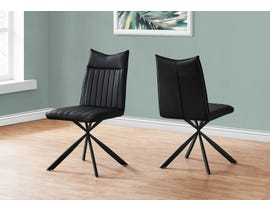 Monarch Leather Look Dining Chair (Set of 2) in Black I1215